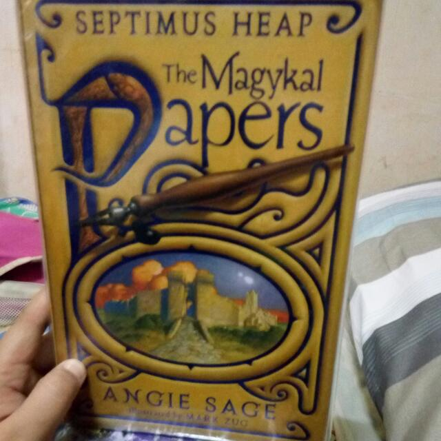 """Septimus Heap """"The Magykal Papers"""" By Angie Sage"""