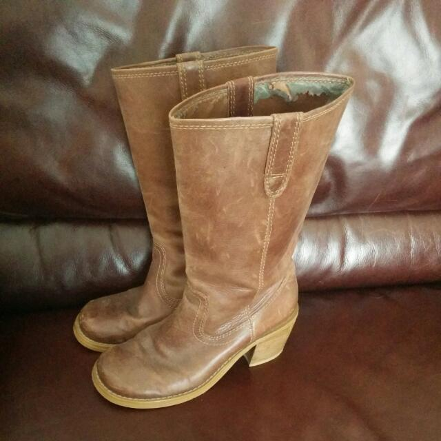 Steve Madden Size 7 Leather Boots