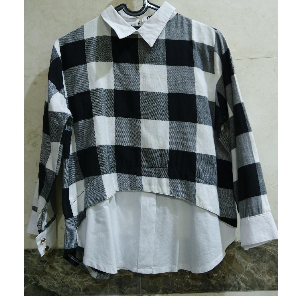 Tartan Collar Shirt