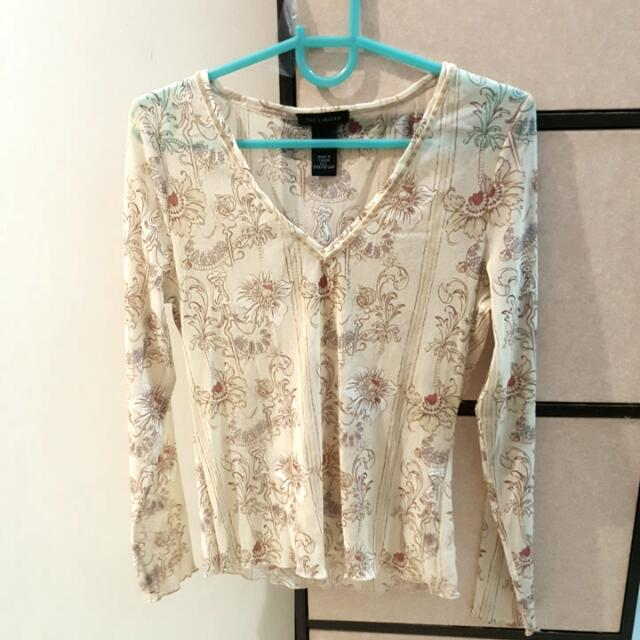 The Limited sheer floral longsleeves/ Cover Up