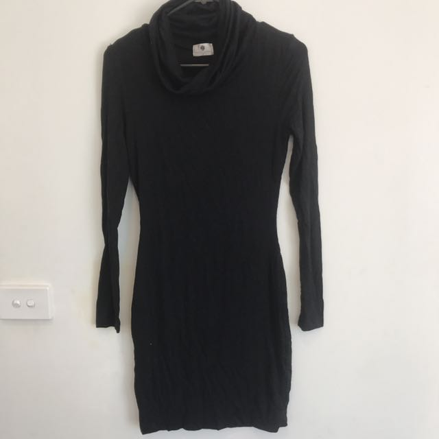 Tight Dress With Turtle Neck Size 8
