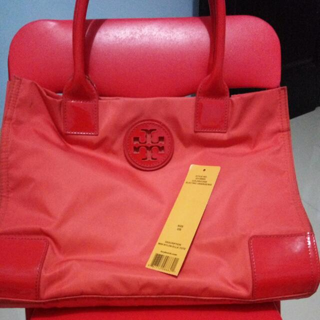 Torry Burch Ella Tote Electric Orange