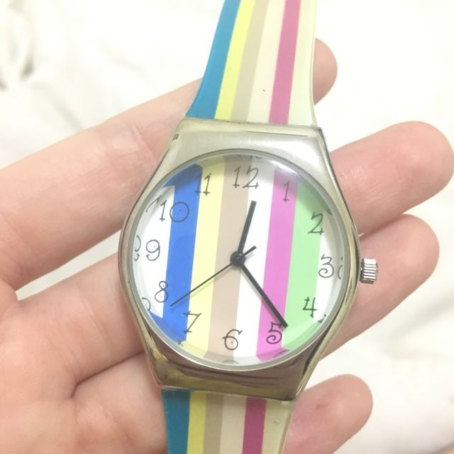 Unbranded Colorful Watch In Stripes