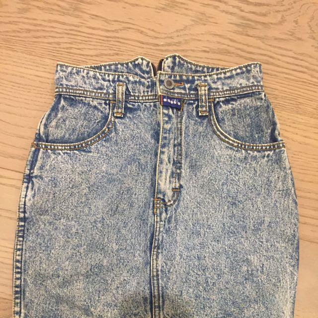 Vintage Diadora Acid Wash Denim Skirt Size 6