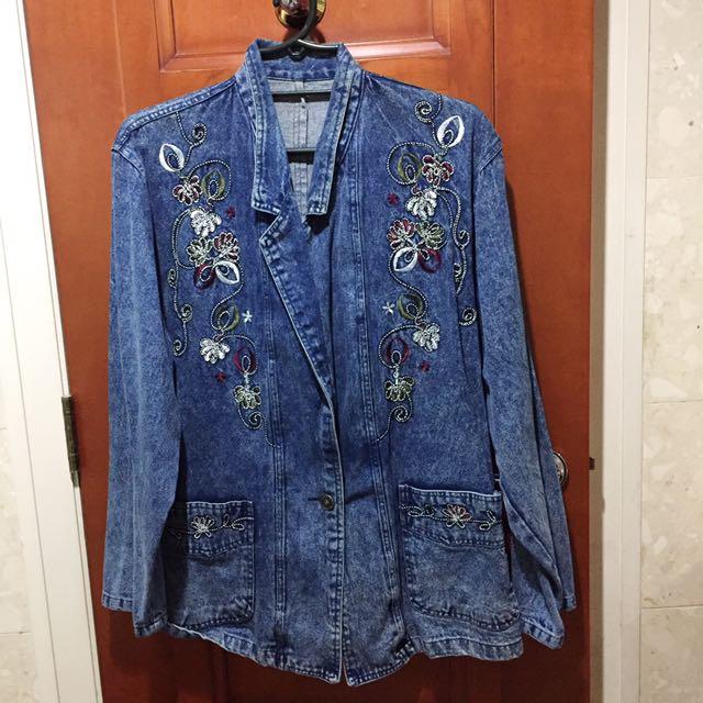 VINTAGE Oversize Denim jacket From Korea