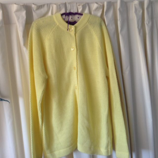 Vintage Oversized Yellow Cardigan