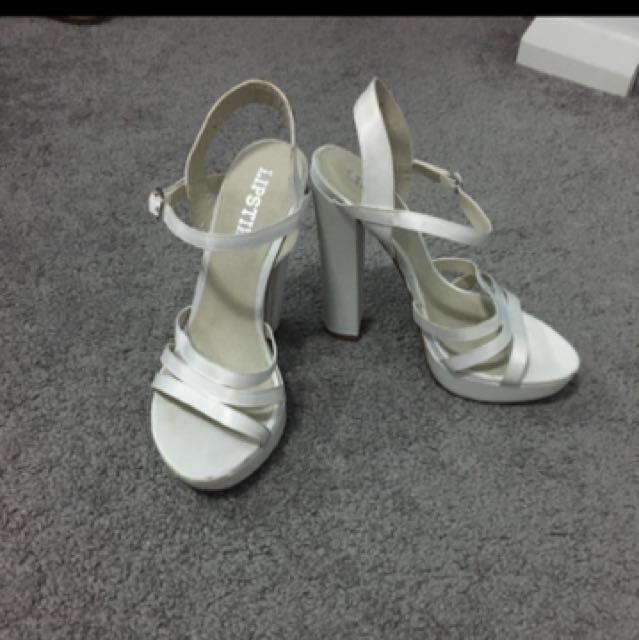 White Lipstick Heels