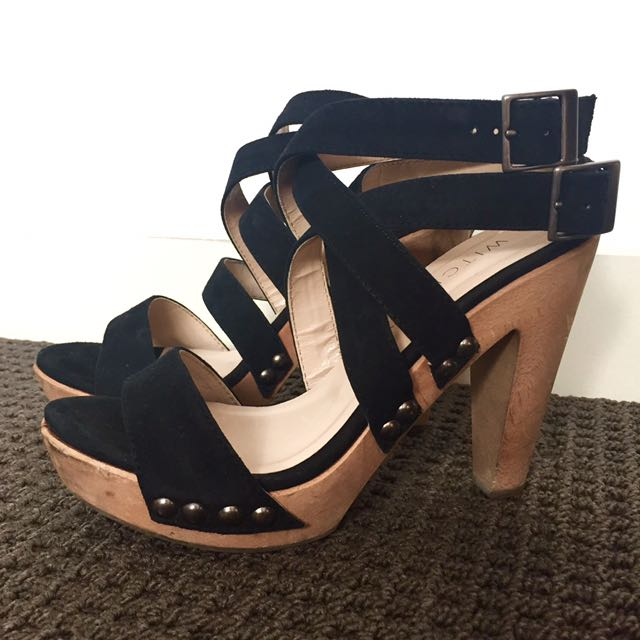 Witchery Strappy Clog Heels