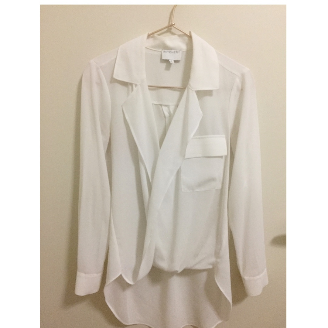 Witchery White Blouse size 4/6- RRP. $99.95
