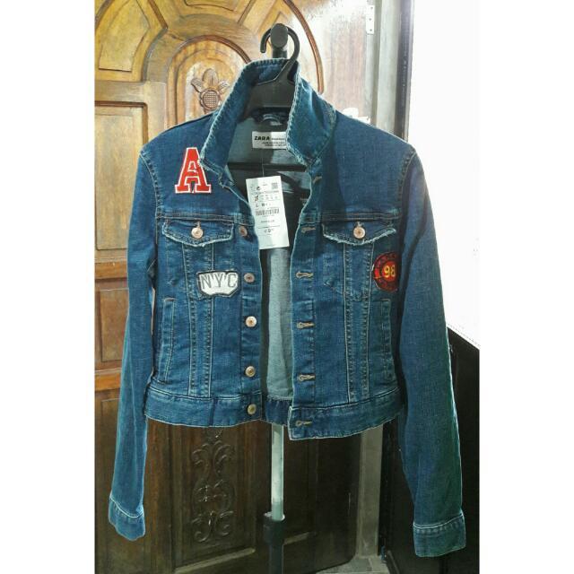 Zara Patched Denim Jacket