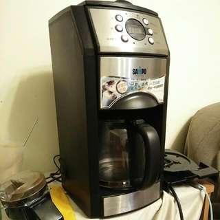 降:D聲寶自動研磨沖泡咖啡機