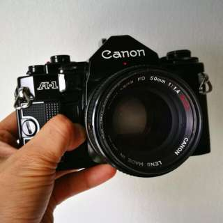 Canon A-1 FD 50mm 1.4 SSC Excellent Condition