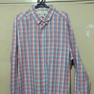 Pink Checkered Polo Long Sleeves - LOGG by H&M