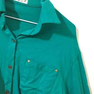 🚚 綠色個性襯衫