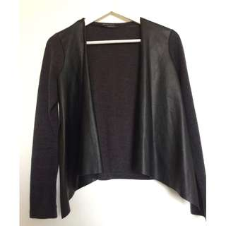 Cardigain with Leather detail from Zara