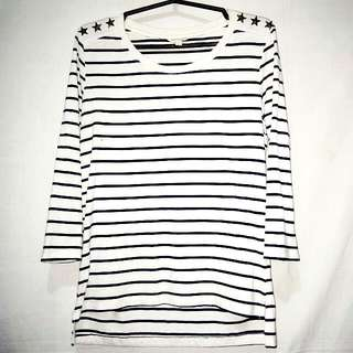 BNY Jeans: 3/4s White Stripes (Large)