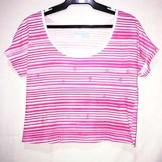 Levis: Pink Anchor Design Blouse (Medium)