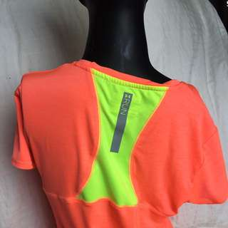Under Armour Neon Orange And Yellow Shirt