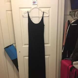 SOLD - Velvet Blue Dress Forever 21