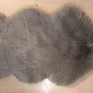 Stunning Charcoal Grey Faux Fur Quality Area Rug