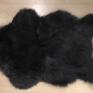 Stunning Black Faux Fur Area Rug Quality