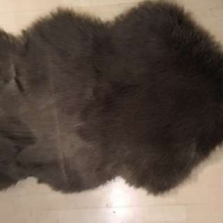 Beautiful Lush Faux Fur Espresso Area Rug