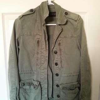 Zara Green Military Jacket