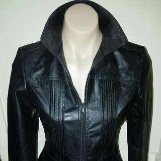 Sportsgirl Faux Black Leather Jacket