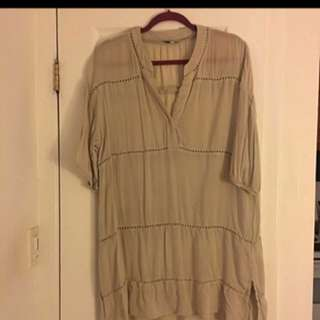 Aritzia Talula Beige Dress Size Medium