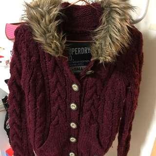 Superdry 純羊毛針織毛衣外套