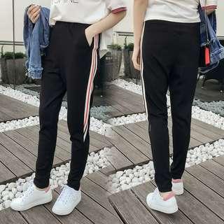 R120  春裝新款韓版百搭時尚條紋顯瘦哈倫褲