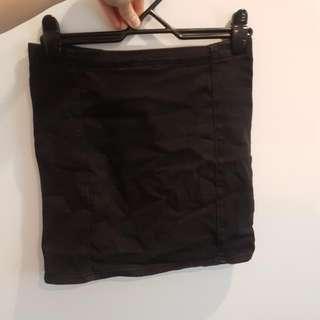Size 12 Black Denim Skirt