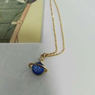 Japanese Blue Pendant Necklace