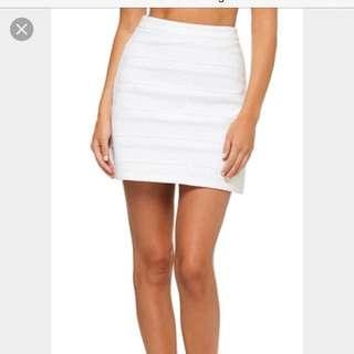 Kookai White Bandage Skirt SIZE2