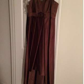 Mocha Dress (High Low Style)