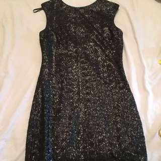 Bardot Black Sequin Dress
