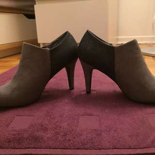 Payless Grey Booties - Size 8