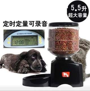 【5.5公升大容量自動餵食器】寵物自動餵食器 貓狗自動餵食器 餵食機 貓咪 狗狗