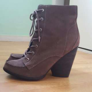 ASOS heeled lace up boots