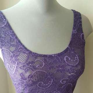 TALULA Purple Lace Tank