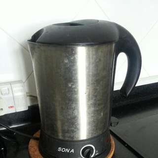 Sona Electric Kettle With Heat Control With Big Lid/cover