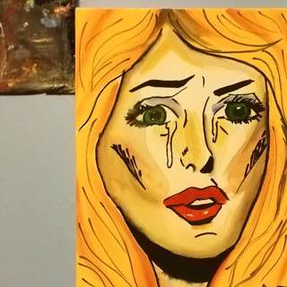 Pop Art Painting On Wall Canvas