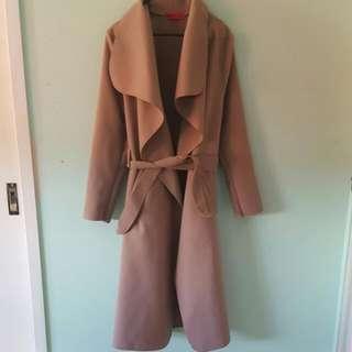 Boohoo waterfall coat