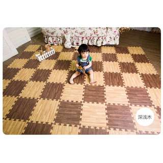 40pc Eva Foam Baby Puzzle Mat / Playmat / Floor Mat / Play Mat - (Wood alike)