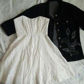 Forever New    Size 8   White Strapless Dress