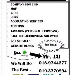 Account, Audit, Tax & Register GST