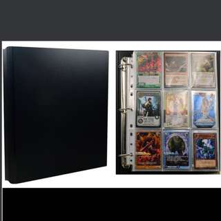 Black And White Card Album File Sleeve Trading Card Cards Game Yu Gi Oh Vanguard Weiss Schwarz Pokemon Duel Masters