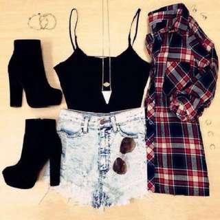 H&M Basic Black Top/ Camisole!