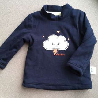 Baby Winter Top (navy cloud)