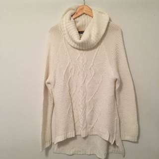 Cream Knit Oversized Jumper